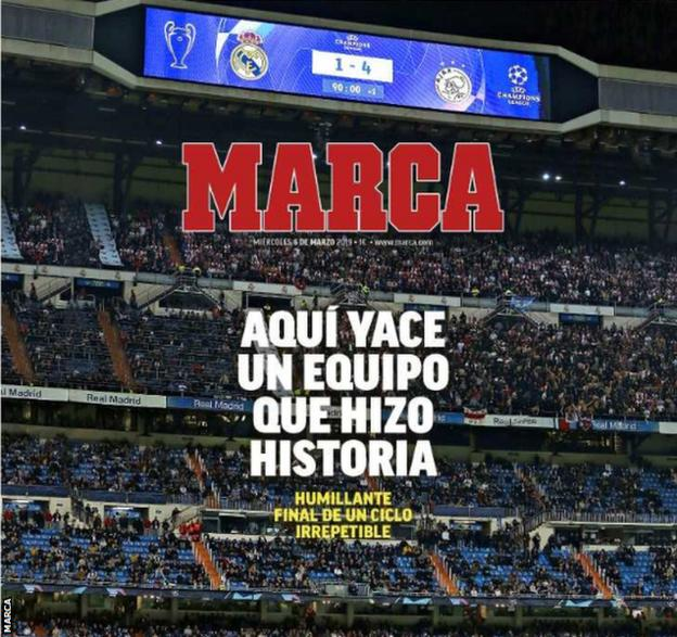 Marca front page