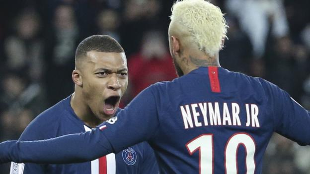 Monaco 1-4 Paris Saint-Germain: Kylian Mbappe scores twice to send his side eight points clear thumbnail