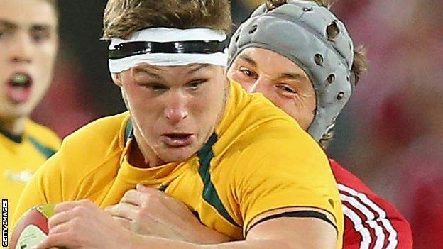 Michael Hooper in action for Australia