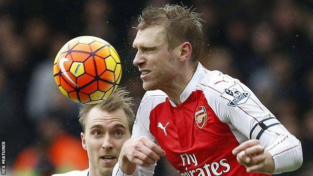 Arsenal defender Per Mertesacker