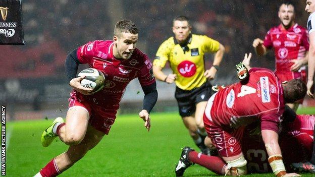 Kieran Hardy's blindside break for a try underlined Scarlets' dominance over Ospreys