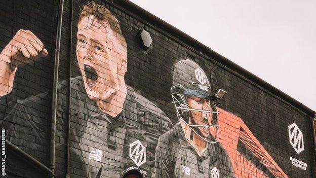 Matt Parkinson and Harmanpreet Kaur take centre stage in the mural