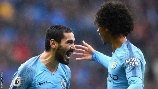There were several City players who impressed but perhaps none more than Germany midfielder Ilkay Gundogan (left), who was intricate with his passing and lively with his movement, capping his display with an excellent goal.