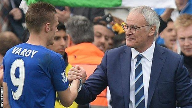 Claudio Ranieri and Jamie Vardy