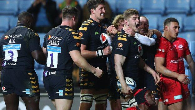 Wasps' in-form flanker Jack Willis scored his third try in five matches
