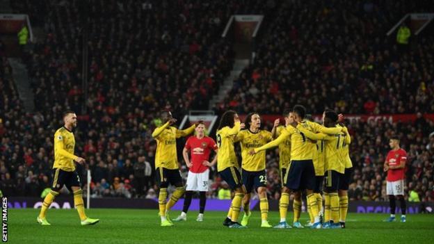 Man Utd 1 1 Arsenal Aubameyang Earns Gunners A Point Bbc Sport