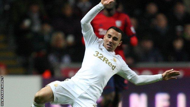 Midfielder Leon Britton has played for Swansea in all top four divisions
