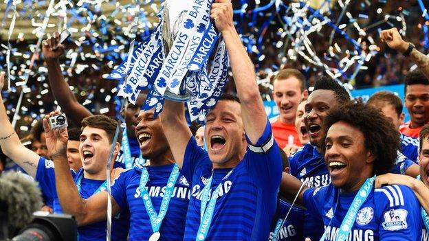 John Terry with Premier League trophy