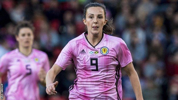 Caroline Weir has scored 12 goals in 77 appearances for Scotland