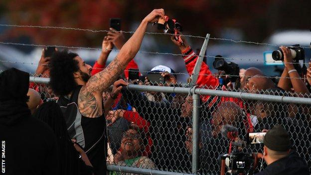 Colin Kaepernick in Georgia on Saturday