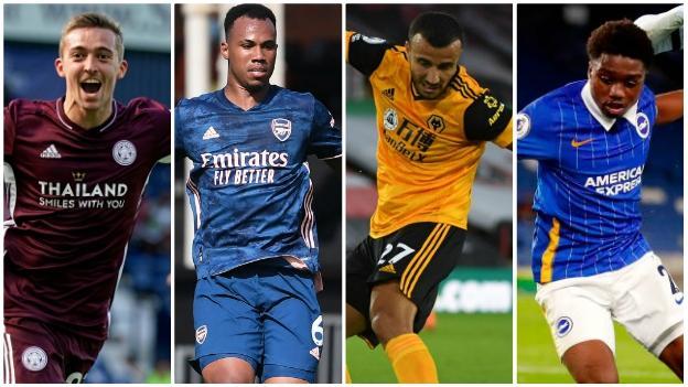 Timothy Castagne (Leicester), Gabriel (Arsenal), Romain Saiss (Wolves), Tariq Lamptey (Chelsea)