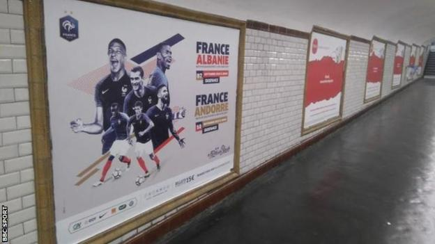 Adverts for France's men's upcoming internationals have appeared to be more prominent around Paris than promotional material for the Women's World Cup