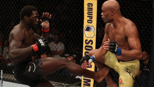 Anderson Silva and Jared Cannonier