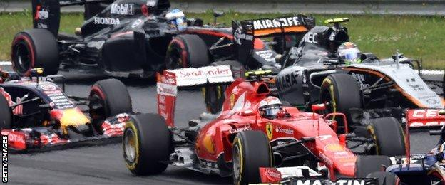 Raikkonen and Alonso