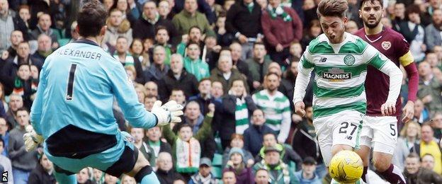 Patrick Roberts chips Celtic into the lead