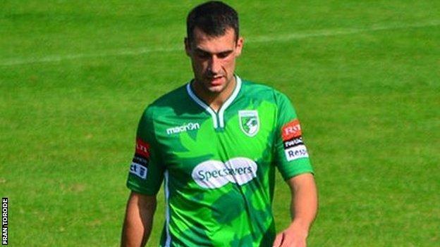 Jamie Dodd is sent off