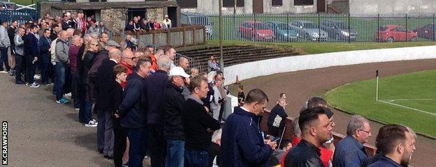 Approximately 300 fans watched Harestanes v Girvan
