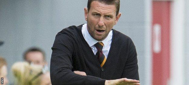 Motherwell manager Ian Baraclough says it will take time for Motherwell to gel