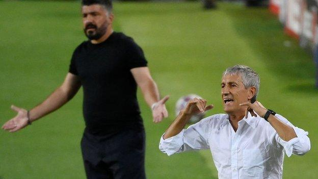 Quique Setien and Gennaro Gattuso