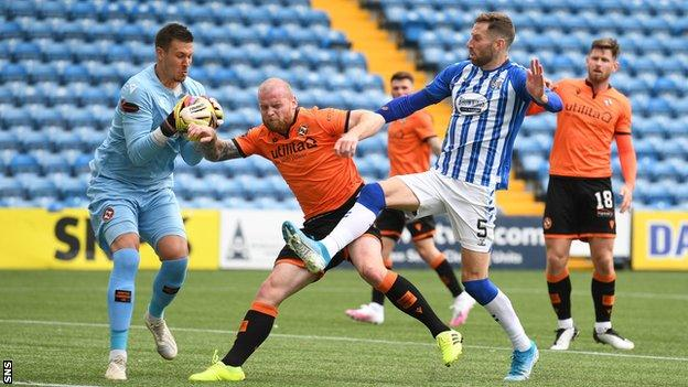 Mark Connolly was part of the Dundee United side beaten by Kilmarnock 4-0 on Saturday