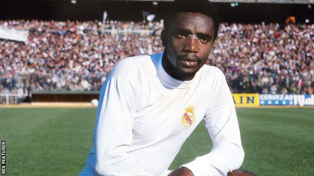 Laurie Cunningham, lining up for Real Madrid in September 1979