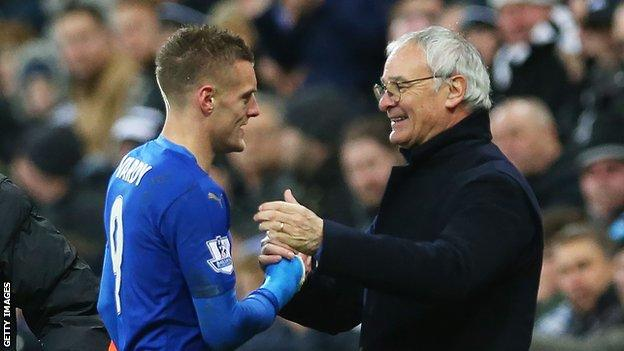 Claudio Ranieri and Jamie Vardy
