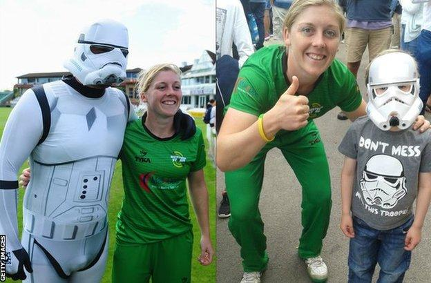 Heather Knight and some Stormtroopers