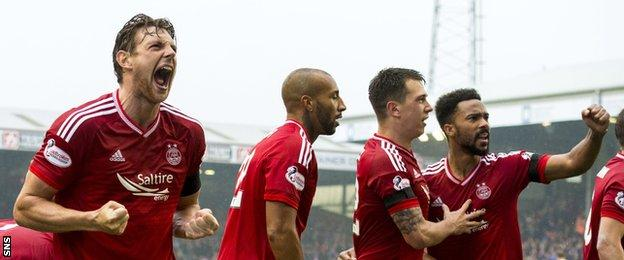 It was clear how much the win over Celtic meant to the Aberdeen players