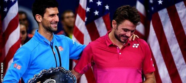 Novak Djokovic and Stan Wawrinka