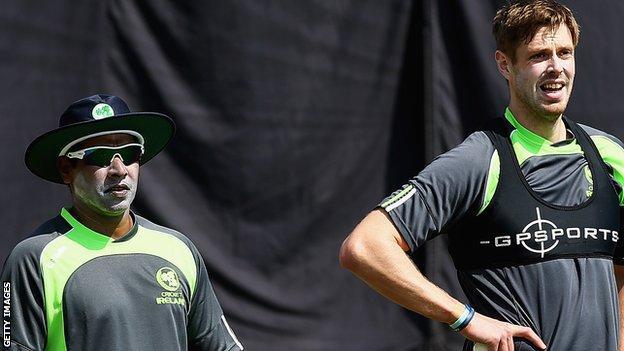Former Sri Lanka star Chaminda Vaas (left) has spent a month helping Ireland bowlers like Boyd Rankin (right) prepare for the World Twenty 20