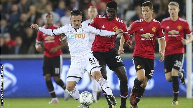 Roque Mesa made 16 appearances for Swansea City since joining from Las Palmas in July 2017
