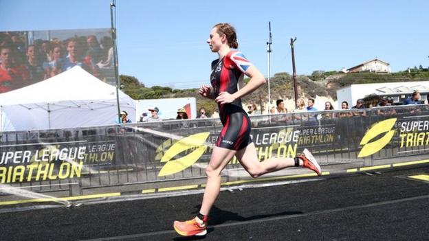 Georgia Taylor-Brown running in Malibu