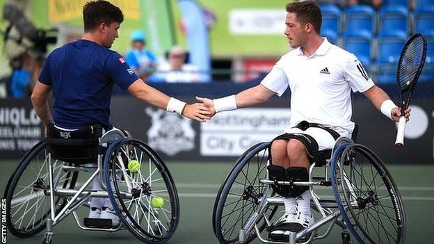 Alfie Hewett and Gordon Reid