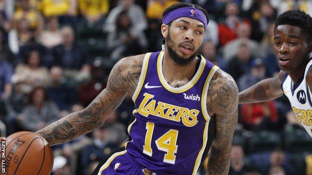 Los Angeles Lakers small forward Brandon Ingram