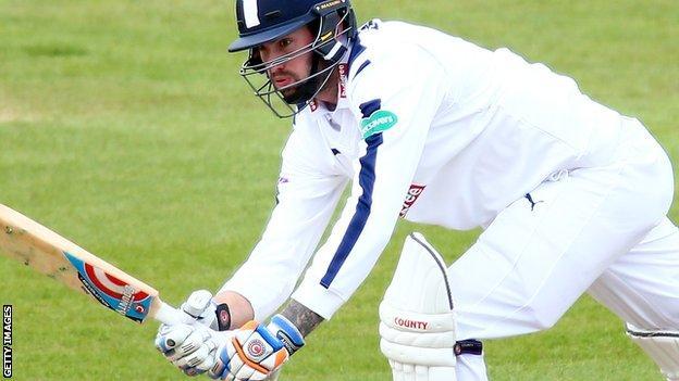Hampshire bowler Reece Topley