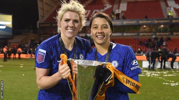 Millie Bright with Sam Kerr
