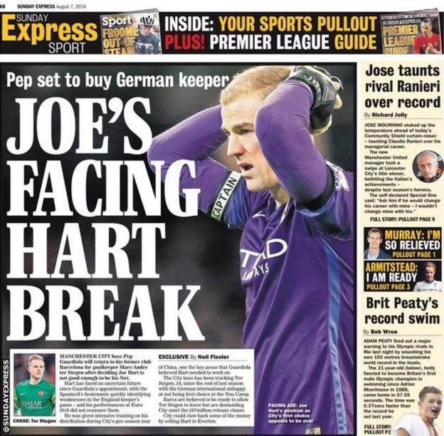 Sunday Express backpage