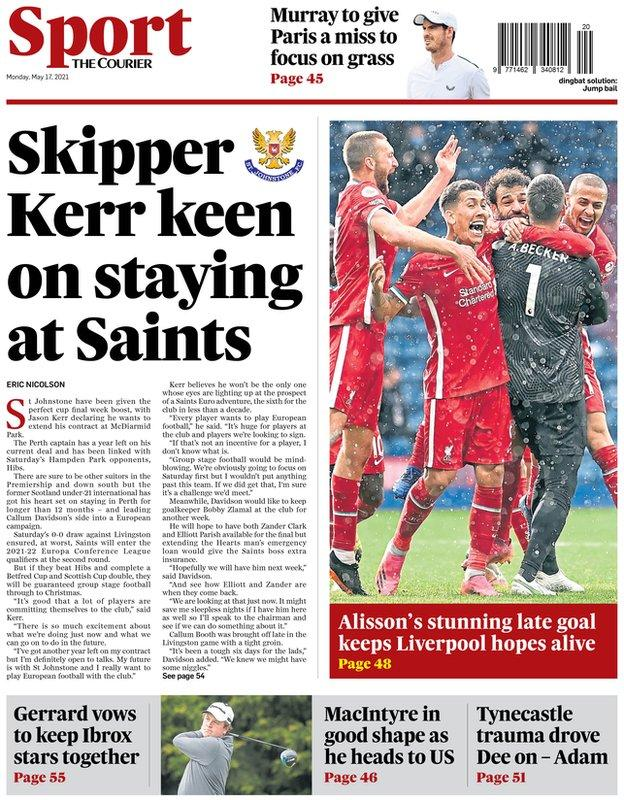 The back page of the Courier on 170521