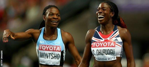 Christine Ohuruogu celebrates winning gold at the 2013 World Championships