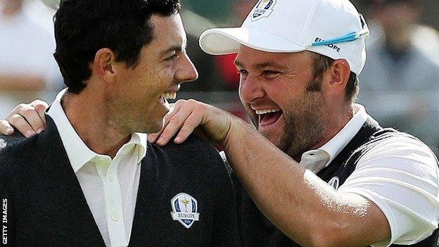 Rory McIlroy and Andy Sullivan
