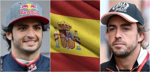Fernando Alonso, Spain flag, Carlos Sainz
