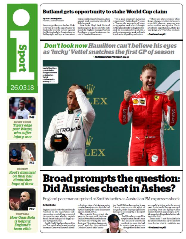 The ipaper sport section on Monday