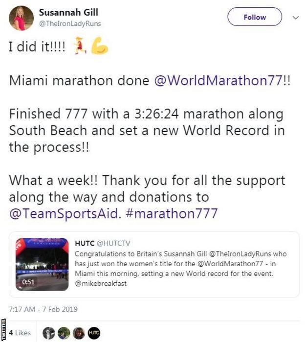Susannah Gilll on Twitter