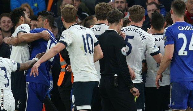 Tottenham and Chelsea melee