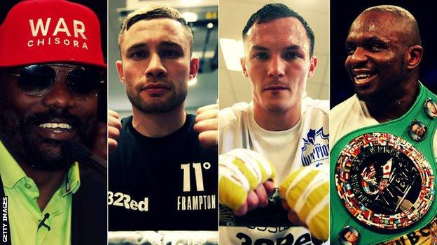 Fans will need to pay for two pay-per-view shows if they wish to see Chisora, Frampton, Warrington and Whyte on 22 December