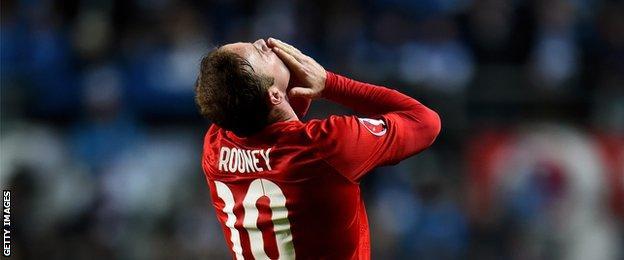 Rooney celebrating
