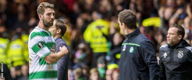 Charlie Mulgrew had to leave the field before the final whistle