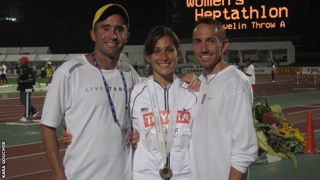 Alberto Salazar with Kara Goucher and Adam Goucher