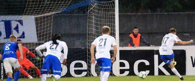 Fredrik Aursnes missed a late penalty for Molde