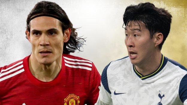 Edinson Cavani and Son Heung-min